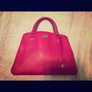 Coach Hot Pink Leather Handbag